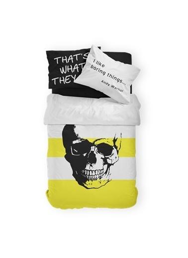 Helen George Helen George Skull 160 X220 Cm Tek Kişilik Pamuklu Genç Nevresim Takımı Siyah